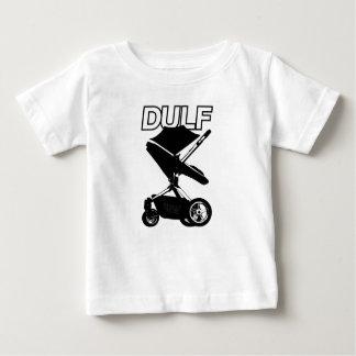 DULFの競争の手押車のロゴ ベビーTシャツ