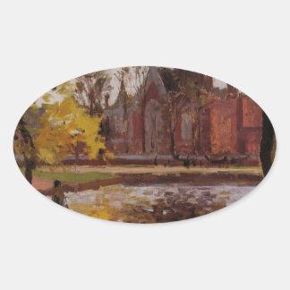 Dulwichの大学、カミーユ・ピサロ著ロンドン 楕円形シール