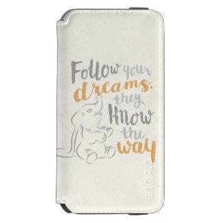 Dumbo  はあなたの夢を後を追います incipio watson™ iPhone 6 財布ケース