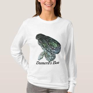 Dumerilのボアの女性オウムのフード付 Tシャツ