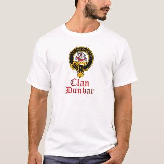 Dunbarのスコットランドの頂上のタータンチェックの一族は衣服を示します Tシャツ
