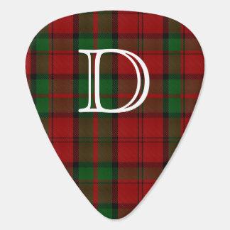 Dunbarのタータンチェック格子縞のモノグラムのギターピック ピック