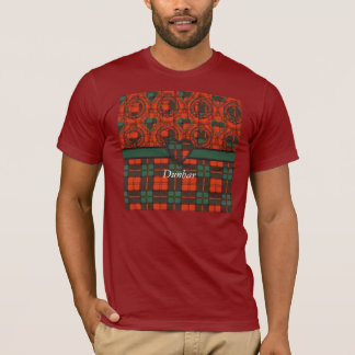 Dunbarの一族の格子縞のスコットランド人のタータンチェック Tシャツ