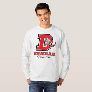 Dunbarの深紅色の潮人の長袖のTシャツ Tシャツ