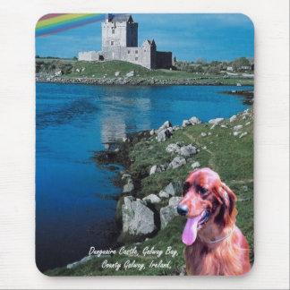 Dunguaireの城の眺めのゴールウェイ湾アイルランド マウスパッド