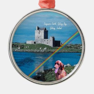 Dunguaireの城の眺めのゴールウェイ美しい湾アイルランド メタルオーナメント