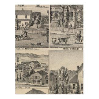 Dunnigan、冬、マディソンの農場 ポストカード