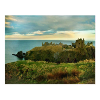 Dunnottarの城、Stonehaven、スコットランド! ポストカード