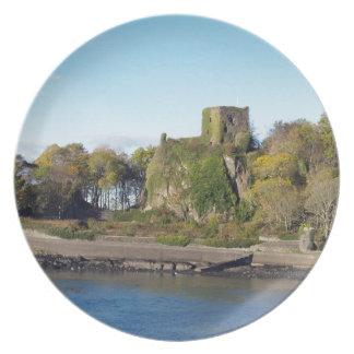 Dunollieの城、スコットランド プレート