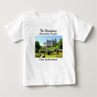 Dunrobinの城-一族サザランド ベビーTシャツ