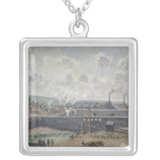 Duquesne Docks、Dieppe 1902年の干潮 シルバープレートネックレス