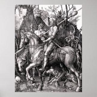 Durerの騎士死および悪魔ポスター ポスター