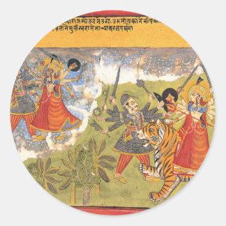 DurgaによってはDaityaの支配者が戦います ラウンドシール