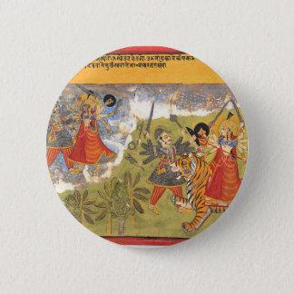 DurgaによってはDaityaの支配者が戦います 5.7cm 丸型バッジ
