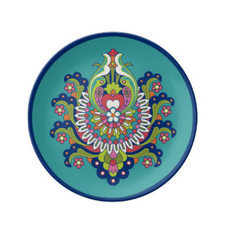 "Durgaの磁器皿III 8.5"" 磁器プレート"