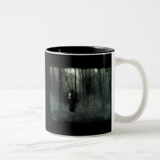 duskfalls3、エデン上の薄暗がりの滝 ツートーンマグカップ
