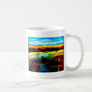 Dusky砂漠の影 コーヒーマグカップ