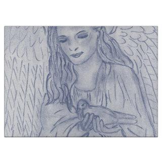 Dusky青の平和な天使 カッティングボード