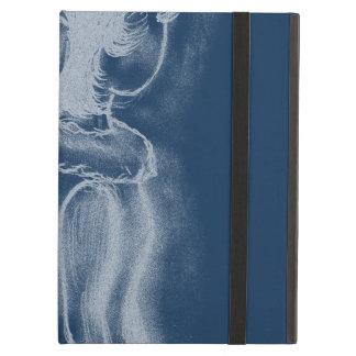 Dusky青の逆にされた横の天使 iPad Airケース