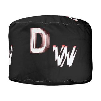 DWのロゴ: 丈夫な回されたポリエステルPouf プーフ
