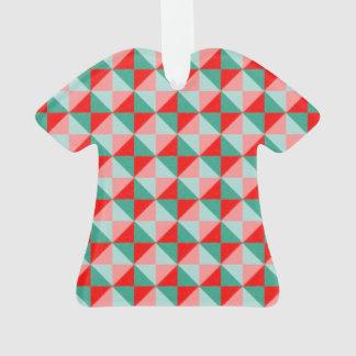 Dwanの抽象的な正方形および三角形パターン オーナメント