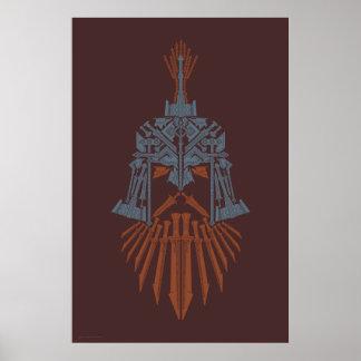 Dwarvenの武器のヘルメットアイコン ポスター