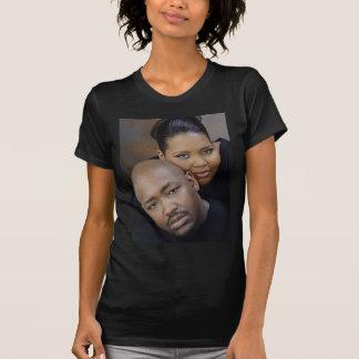 Dwayneおよびアンドリアの結婚式のティー Tシャツ