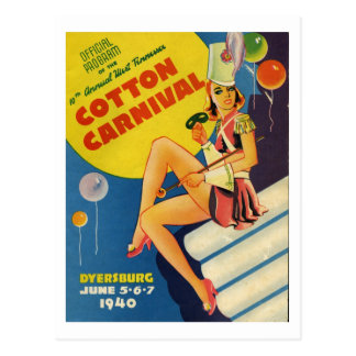 Dyersburgテネシー州の綿のカーニバル1940年 ポストカード