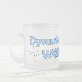 Dysautonomiaの戦士によって曇らされるマグ フロストグラスマグカップ