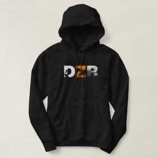 dzrのプルオーバーのフード付きスウェットシャツ パーカ