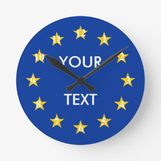Eの. -欧州連合の旗の円形の柱時計 ラウンド壁時計