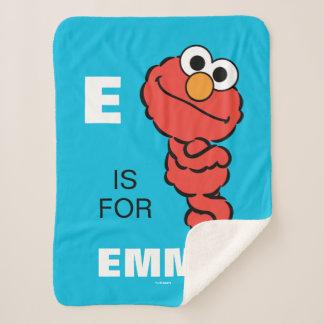 Eは|があなたの名前を加えるElmoのためです シェルパブランケット