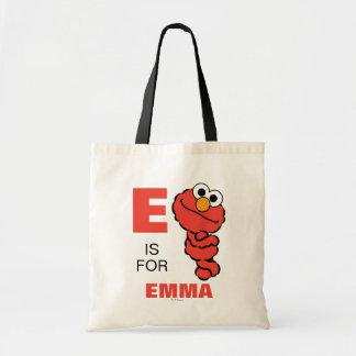 Eは|があなたの名前を加えるElmoのためです トートバッグ