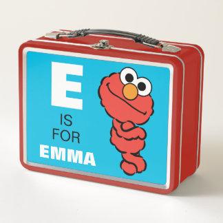 Eは があなたの名前を加えるElmoのためです ランチボックス