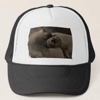 Eシールのカーブの帽子 キャップ