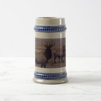 E0019 Bullのオオシカの倍の低下の尖叉 ビールジョッキ