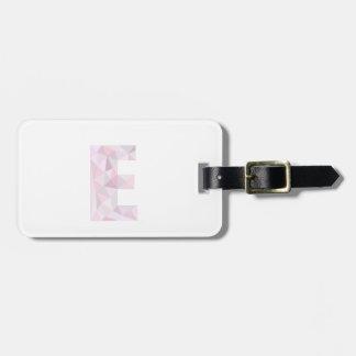 E -低い多三角形-中立ピンクの紫色の灰色 ラゲッジタグ