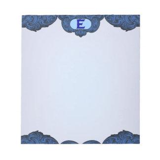E - Falckのアルファベット(青い) ノートパッド