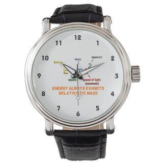 E=mc^2エネルギーは相対論的な固まりを常に表わします 腕時計