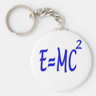 E = MC 2 (青) キーホルダー