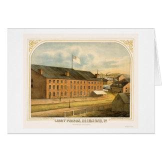 E. Sachse & Company 1865年著Libbyの刑務所、 カード