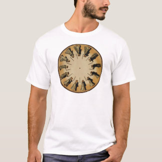 Eadweard Muybridgeのカップルワルツを踊るPhenakistoscope Tシャツ