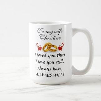 Eagle And Powerful Message With Custom Name コーヒーマグカップ