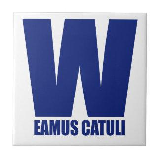 Eamus Catuli Wの旗のシカゴのタイルのコースター タイル