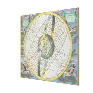 Eartのまわりで月の軌道を図表にする地図 キャンバスプリント