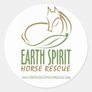 Earth Spirit Horse Rescue Inc.のステッカー ラウンドシール