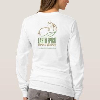Earth Spirit Horse Rescue Inc.のフード付きスウェットシャツ(女性) Tシャツ