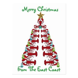 EastCoastの郵便はがきからのメリークリスマス ポストカード