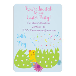 Easter Party Invitation カード