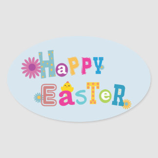 Easter Sticker 楕円形シール